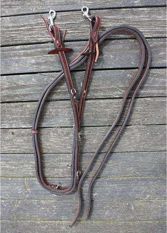 double stitched German Martingale Reins